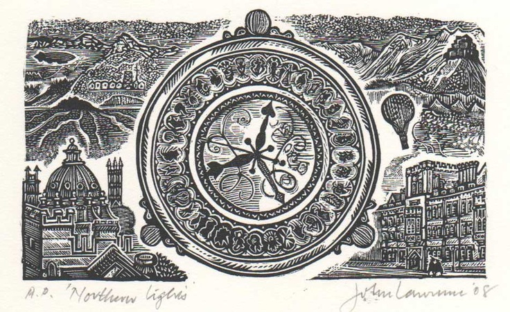 Illustration to Philip Pullman's Northern Lights, by artist John Lawrence 2008